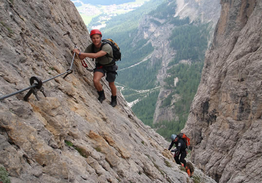 A Via Ferrata Is Generally Route Involving Scrambling Over Steep Rocky Terrain And Ascending Descending Iron Runged Ladders Many Of These Routes Have